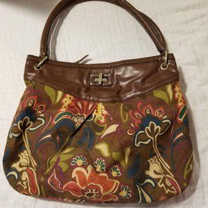 Relic Floral Shoulder Bag Brown Floral